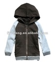 Simple style for kid's fleece jacket with hood