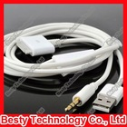 Gold 3.5mm Car AUX Audio USB Charger Cable for New iPad iPad1/2/3 iPod iPhone