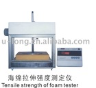 Tensile strength of foam tester
