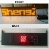 GPS GPRS bus led sign with speed time
