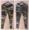 2011 fashion silver lady pantalon collant ladies tight pants trousers