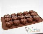 New Silicone Heart Chocolate Mold Candy Ice Mould Cube Tray Mould Pan w 15 Holes