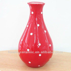 Red dot hand painted water kettle ceramic