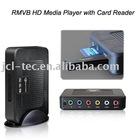 HDD Player RM/RMVB/H.264 TV HD Media Player w/Card Reader