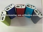 mobile device multiple battery pack power bank 5200mAh with LED light banknote test function