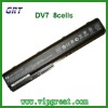 laptop battery for HP DV7 8cells replacement battery