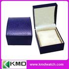 Round Leather/Leatherette watch box in dark blue