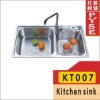 KT007 stainless steel kitchen sink,indian ktichen design,stainless steel sink,free standing sink,farm,campaing sink,kitchen sink
