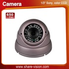 "1/3"" sony ccd 650TVL cctv camera digital, dome IR distance 20-30M"