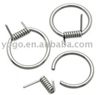 Body piercing / Stainless steel wire captive ring