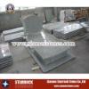 Grey granite tombstone