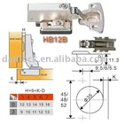 HB12B Hydraulic Buffering Concealed Hinge