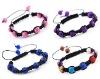 4 colors handmade shamballa bracelet alloy rhinestone bracelets No.11110410_1