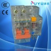 elcb transparent DZ47LE-63 2p earth leakage circuit breaker