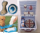 Pet products with with set of dog care products in a beautiful basket at competitive price.