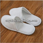 luxury white closed toe hotel waffle slippers/ washable waffle slippers