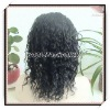 16inch loose curl Indian remy hair lace front wig