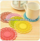 Elegant creative silicone lace coffee mat,coffee cup mat