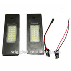 18SMD Led license light For BMW MINI R55,E63 E64 E81 E85 E87