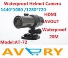 5 Mega Pixel CMOS Sensor Outdoor Water Resistant Waterproof 1080p Full HD Helmet Camera,