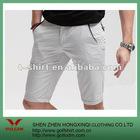 cotton white casual Men short
