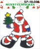 glitter pvc Christmas window sticker