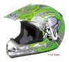 green cross helmet for motorcycle