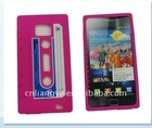 cassette tape Silicone gel case for samsung galaxy s2 i9100