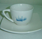 220cc cup and saucer set ,square ceramic porcelain coffee cup and saucer set