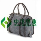 "15"" Lady Fashion Leather and Canvas Handbag"