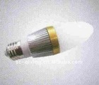 3*1W E27 LED eCandle lights ,nergy saving bulb