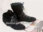 Latest popular women lovely snow boots warm winter boots with fur