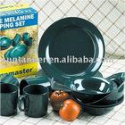 black color melamine dinnerware / outdoor melamine dinner set /
