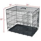 Folding metal mesh pet cage