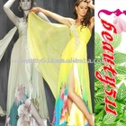 2011 new hot style best sell beautiful chiffon summer printed dress