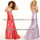 New arrival strapless beaded sweetheart ruched lilac custom-made 2013 evening gowns CWFae5018