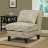 Accent,Signature Tan Linen Slipper Chair