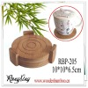 bamboo coaster with holder
