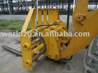 wheel loader with forks