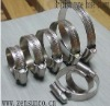 British type worm drive hose clamp