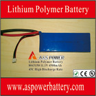 Best helicopter toy spare parts 11.1V 4500mAh lithium polymer battery