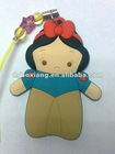 Q snow white Mobile Strap products