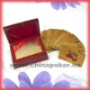 Playing card in wooden box