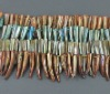 Shell Beads Strands, Spray-Painted, Flat Round, Dyed, Multicolor, about 20~38x5~7x4~5mm, about 70pcs/strand(BSHE-R020-1)