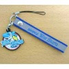 polyester lanyard cellphone holder with pvc decoration
