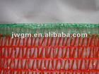 50x80cm red with green bottom PE Raschel bag
