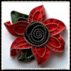 zipper flower designs pattern