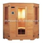 Double energy light wave wooden sauna room