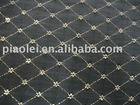 Jacquard curtain lace fabric with metallic