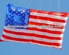 inflatable flag kite with wind hole nylon kite 3d kite